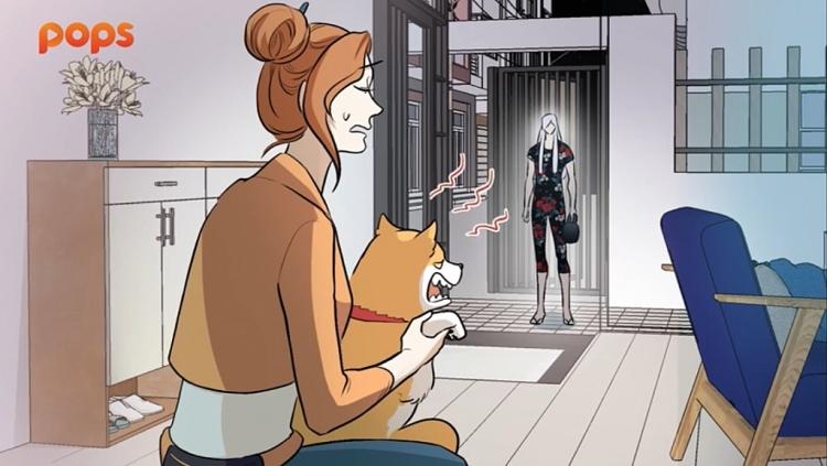 Chú chó của Nhi Lan dường như đã nhận ra sự khác biệt của Trần Đăng Sơn