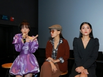 Han Sara bất ngờ hát ca khúc nhạc phim 'Thang máy' trong buổi giao lưu