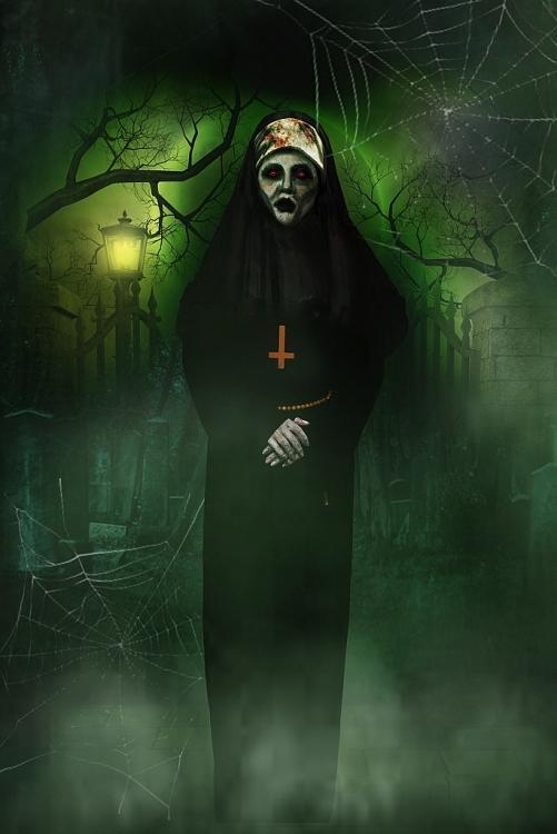 soc nang voi tao hinh halloween cua thuy nga