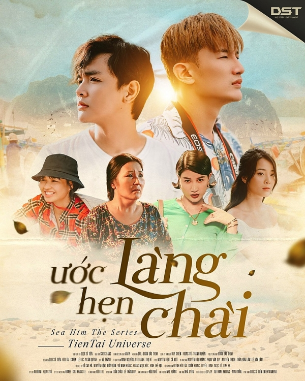 ngan quynh le loc trang khan karen xuat hien trong poster chinh thuc cua web drama uoc hen lang chai