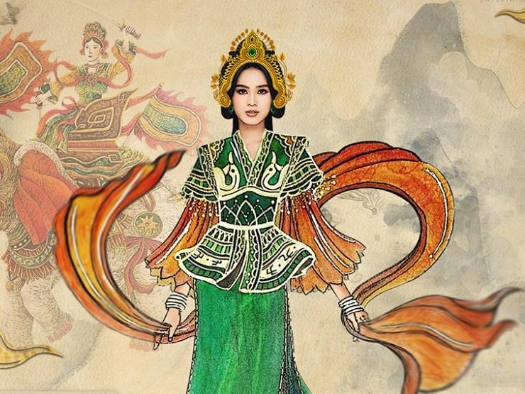 Hoa hậu Đỗ Hà gây ấn tượng khi mang hình ảnh nữ tướng Bà Triệu đến 'Miss World 2021'