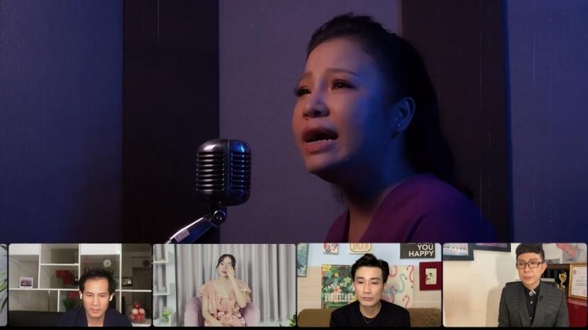 Lê Trang rơi nước mắt, hát ca khúc 'Thương chị' tưởng nhớ cố nghệ sĩ Phi Nhung tại 'Ca sĩ bí ẩn'