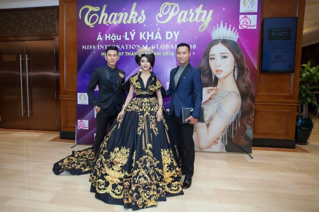 a hau ly kha dy mo tiec an mung thanh tich tai miss international global 2018