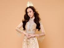 Anika Trinh Trinh hóa vương phi với áo dài hoàng tộc của NTK Tommy Nguyễn