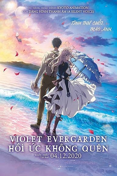 chuyen tinh giua violet evergarden va thieu ta gilbert trong ban dien anh violet evergarden the movie