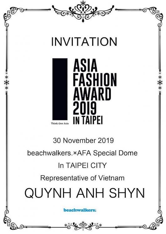 quynh anh shyn chinh thuc tro thanh dai dien viet nam tham du asia fashion award 2019