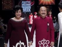 NSND Hồng Vân làm người mẫu catwalk tại 'Aquafina Vietnam International Fashion Week 2020'