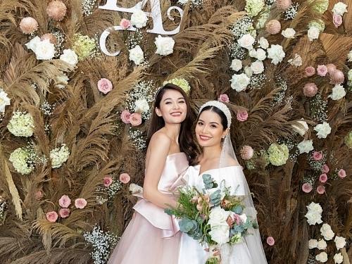 Á hậu Thùy Dung xinh như công chúa trong tiệc cưới của chị gái