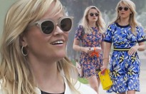 reese witherspoon va con gai giong nhau nhu song sinh