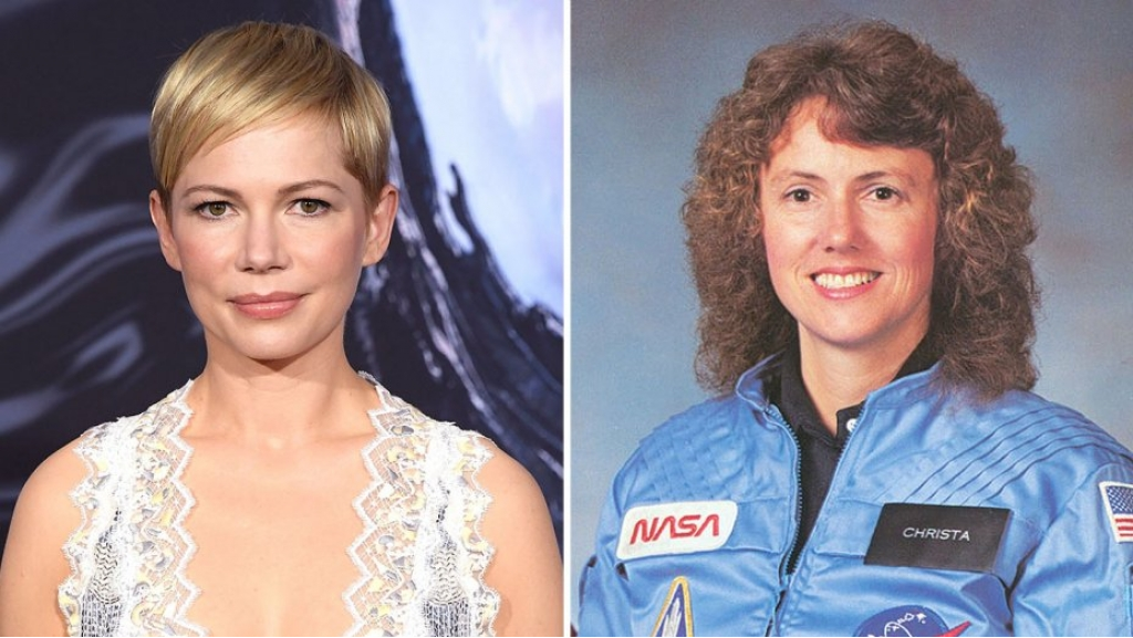 michelle williams dong vai phi hanh gia christa mcauliffe trong the challenger