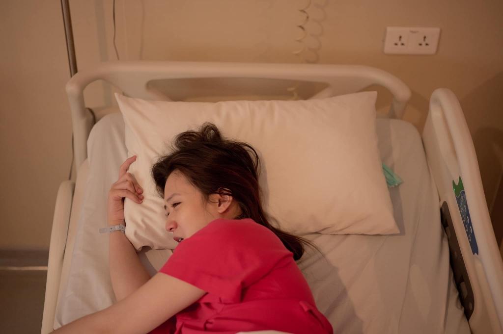 Justatee tung loạt ký sự ảnh chi tiết hành trình 'vượt cạn' của bà xã Trâm Anh