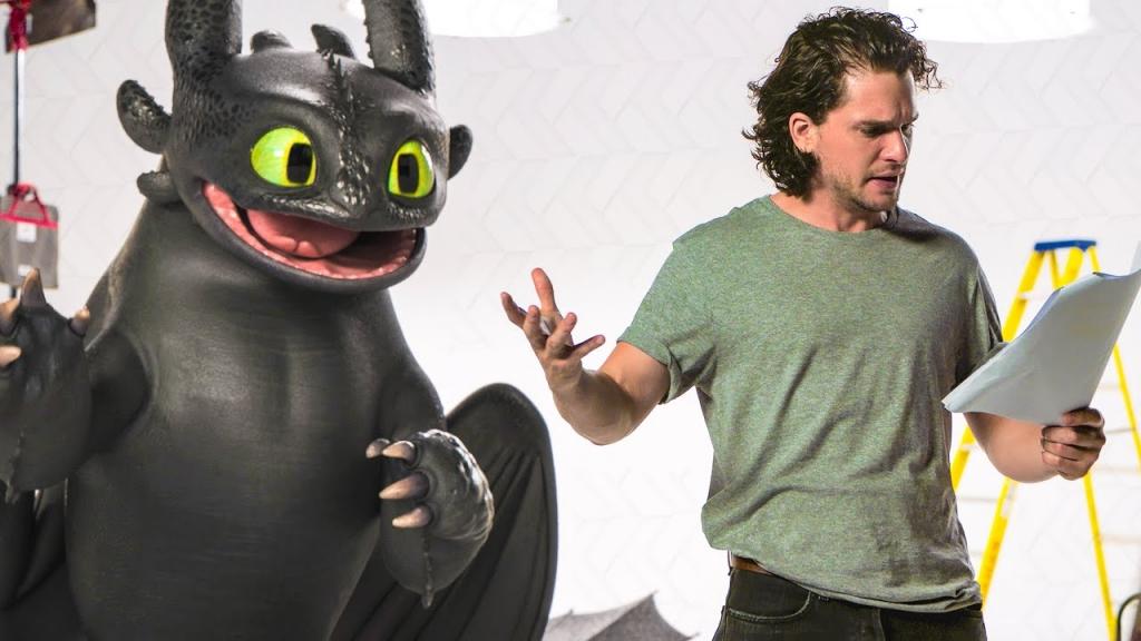 Những hình ảnh vui nhộn của diễn viên Kit Harington và nhân vật Toothless trong phim 'Bí Kíp Luyện Rồng: Vùng Đất Bí Ẩn'