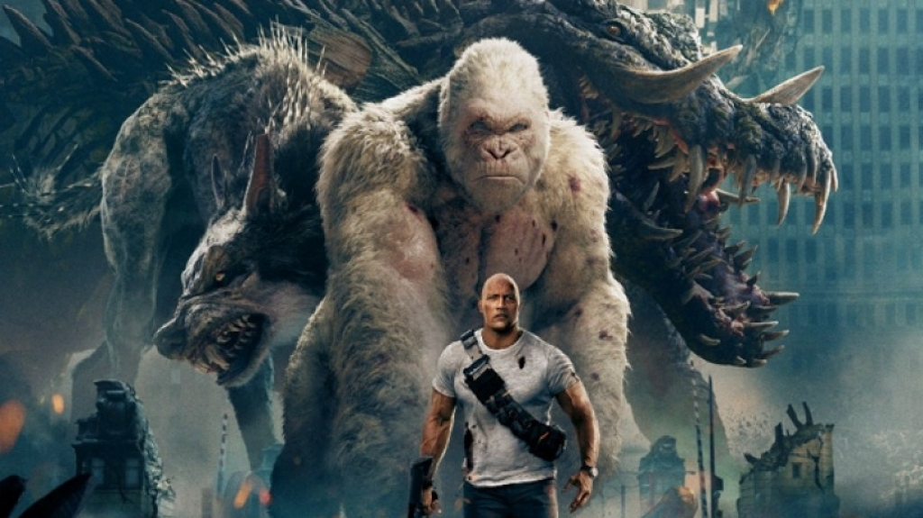 Cùng thưởng thức màn đánh nhau của những siêu thú khổng lồ trong 'Rampage'